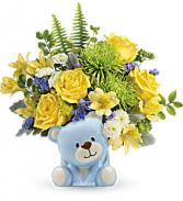 Joyful Blue Bear Bouquet TNB14-1B