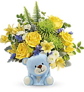 Joyful Blue Bear Bouquet TNB14-1B in Snellville, GA   SNELLVILLE FLORIST