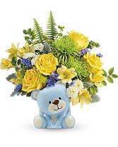 Joyful Blue Bear Keepsake