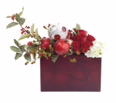 Joyful Elegance Red and white arrangement in a box