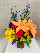 Joyful Gathering Fresh Vase Arrangement