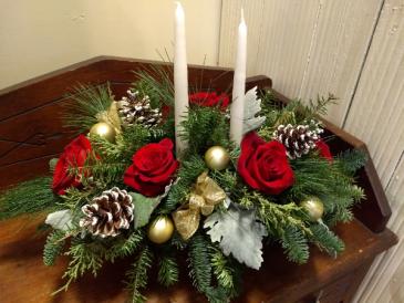 Joyful Holiday centerpiece