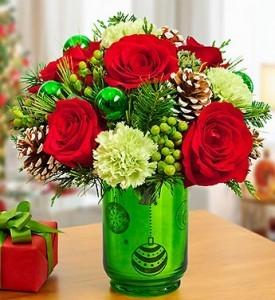 Joyful Lights Holiday Vase