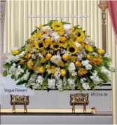Joyful Memories (White and Yellow) Casket Spray