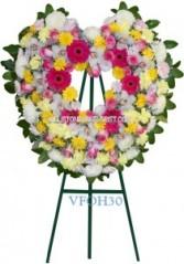 Joyful Memory Open Heart Vogue's Hearts and Wreath Sprays