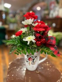 Joyful Mug  Holiday mug arrangement