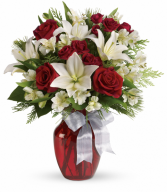 Joyful Season Bouquet One-Sided Floral Arrangement