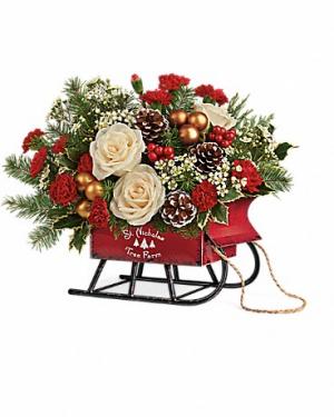 Joyful Sleigh Bouquet Christmas in Tyngsboro, MA | BLOSSOMS