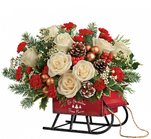 Joyful Sleigh By Teleflora   in Oakville, ON | ANN'S FLOWER BOUTIQUE-Wedding & Event Florist