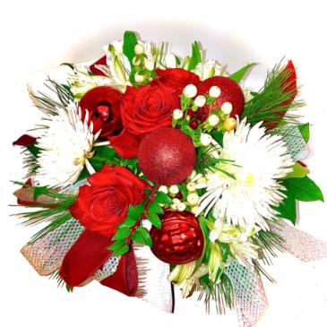 Joyful Splender Vased Fresh Arrangement