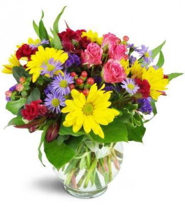 Joyful Thanks All-around floral arrangement
