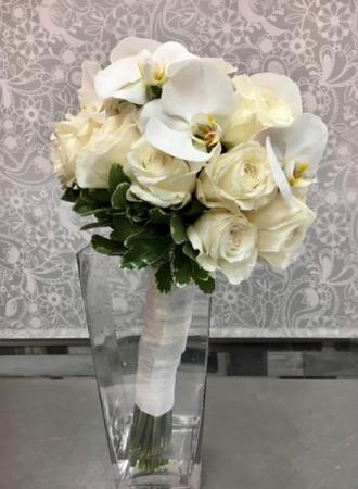 Joyful White Bridal Bouquet Bridal Bouquet