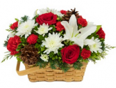 Joyful Wishes Basket Arrangement