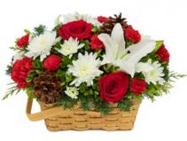 Joyful Wishes Basket Arrangement