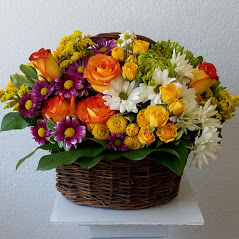 Joyful with colors Basket in Miami, FL | FLOWERTOPIA