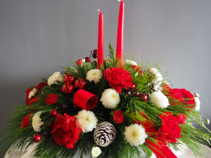 Joyous Candlelight  Flower Arrangement in Barrie, ON | FLOWERS AND PINEWORLD