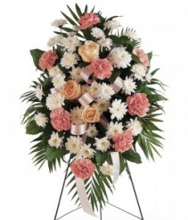 Standing Spray of pinks and whites