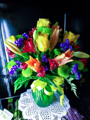 Jubilant Sensation Floral Arrangement in Lauderhill, FL | A ROYAL BLOOM FLOWERS & GIFTS