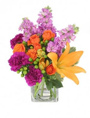 Jubilation! Bouquet in Bath, NY | VAN SCOTER FLORISTS