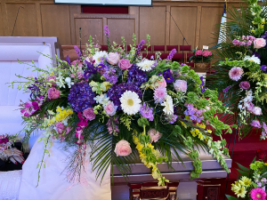 "Judy's ""LOVE YOU""  Casket Flowers in Murphy, NC 