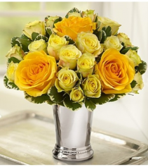Julep Cup Bouquet™ - Yellow Arrangement