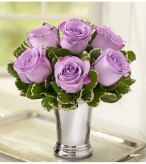 Julep Cup Lavender Rose Arrangement