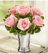 Julep Cup Pink Rose Arrangement