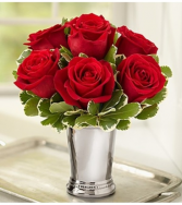 Julep Cup Red Roses Arrangement