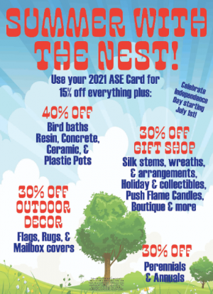 July Sale   in Easton, MD | ROBINS NEST FLORAL AND GARDEN CENTER