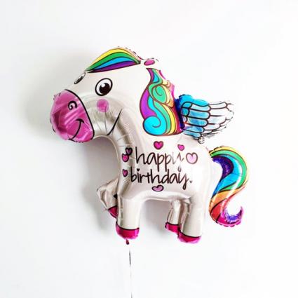 Jumbo Happy Birthday Pegasus Balloon