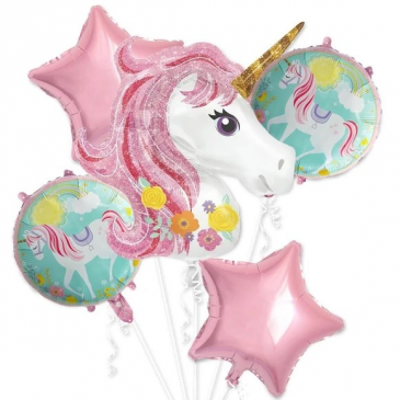 Jumbo Unicorn Balloon Bouquet