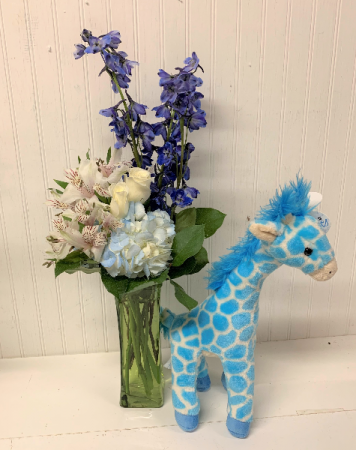 Jump for Joy in Blue with Giraffe