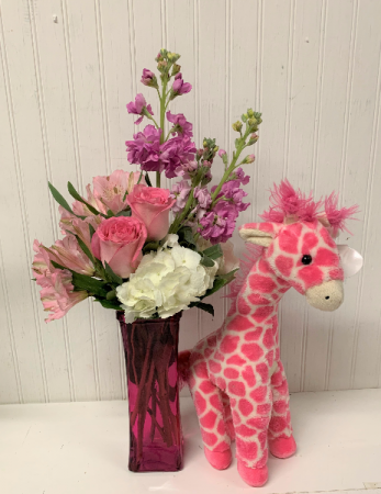 Jump for Joy in Pink with Giraffe