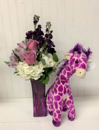 Jump for Joy in Purple with Giraffe