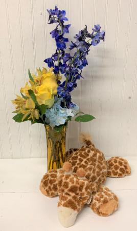 Jump for Joy in Yellow with Giraffe