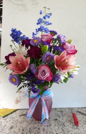 Just a little blue mix vase