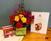 Just Because Arrangement with LovePop Card  45.00  55.00  65.00