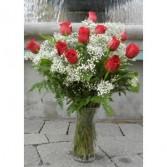 Just Because  One Dozen Long Stem Roses