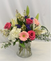 JUST BECAUSE I LOVE YOU FRESH FLOWERS VASED - see description