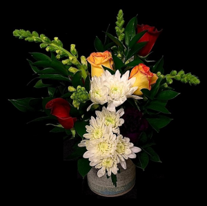 Just Because Pottery Floral Mix Roses in Plainview, TX | Kan Del's Floral, Candles & Gifts
