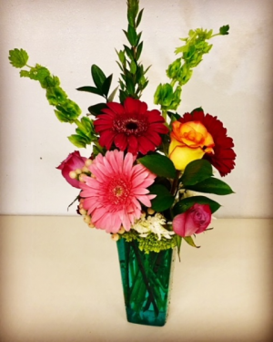 """Just Because""  Mixed Floral with Mixed Color Roses in Plainview, TX 