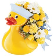 Teleflora's Just Ducky for Baby Fresh Arrangement in Presque Isle, ME | COOK FLORIST, INC.