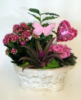 Just For You Flowering Planter Basket