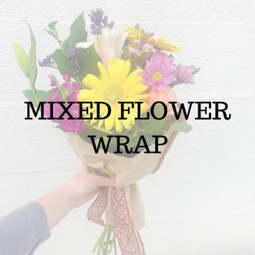 Mixed Flower Wrap  Bouquet