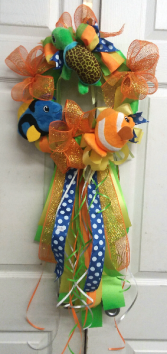 Just Keep Swimming Door Wreath