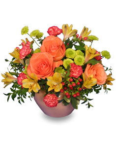 Just Peachy Arrangement in Cherokee, IA | Blooming House