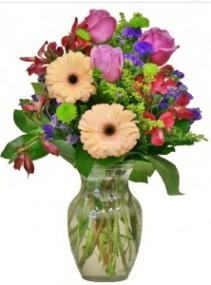 JUST PEACHY  Arrangement of Flowers