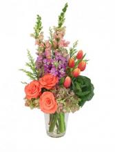 JUST PEACHY Vase Arrangement