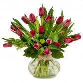 Just Red Tulips Arrangement