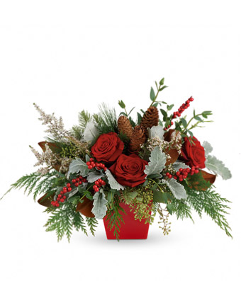 Just Rosey Holiday Arrangement